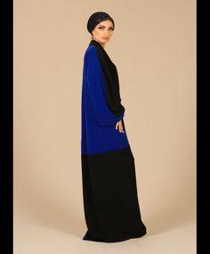 Colour block Mauzan Abaya (www.mauzan.com)