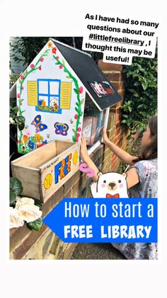 How to start a little library - Red Ted Art - Know someone who wants to start a little free library? Little Free Library Plans, Little Free Libraries, Little Library, Craft Activities For Kids, Summer Activities, Crafts For Kids, Indoor Activities, Library Organization, Library Ideas
