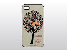Fall Wedding iPhone Case  Wedding Tree Orange by GoldenDaysDesigns, $15.00