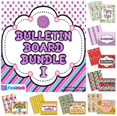 Make your life easier and your student work board even prettier with this Bulletin Board Bundle. This bundle contains a collection of ten different borders and board headers, enough to keep your board bright and interesting throughout the whole school year. ($)