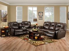 Avalon set: Perfect for a home where everyone wants to recline! #living #furniture #designs #decor explore freeds.net