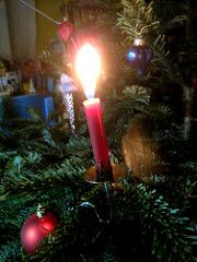 Imported Christmas tree candles and vintage-style Christmas tree candle holders available from: www.christmasgiftsfromgermany.com