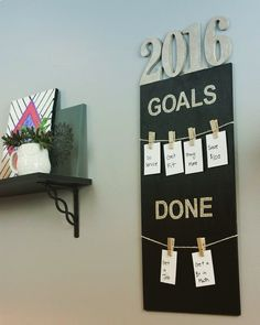 fun setting goals with this 2016 Goal Board! Easily made with Deco Art Inc!It's fun setting goals with this 2016 Goal Board! Easily made with Deco Art Inc! 2016 Goals, Goal Board, Wish Board, Silvester Party, Goal Planning, Setting Goals, Goal Settings, Inspiration Boards, My New Room