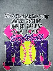 Southern Chics Funny Softball Mom 4 Sunflower Neon Green Sweet Girlie   SimplyCuteTees