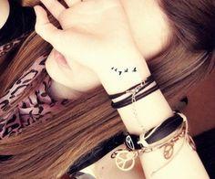 Swallows wrist tattoo