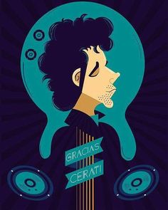 Rodolfo Jofre on Behance Soda Stereo, Character Illustration, Digital Illustration, Holy Shirt, Rock Argentino, Rock Legends, Film Music Books, Illustrations And Posters, Rock Style