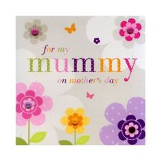 40510dc1efd Don't forget the card: Sherbet Fizz Mummy Mother's Day Card from our  Mother's