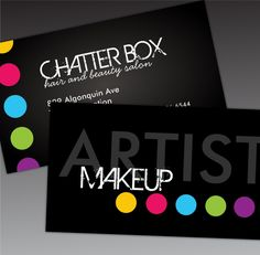 Fully Customizable Makeup Artist Business Cards. These business cards are bold, modern and stylish...sure to make an impression!