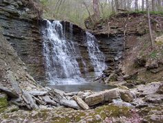 Clifty Falls state park in indiana. i've been hiking here with my dad.