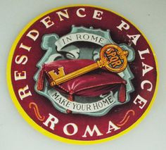 Residence Palace  Rome  Vintage Hotel by HarrysCollectables Vintage Hotels, Luggage Labels, Rome, Palace, Make It Yourself, The Originals, Etsy, Palaces, Castles
