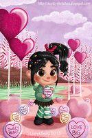 Valentines Day for Vanellope von Schweetz Disney Pixar, Disney Animation, Disney And Dreamworks, Disney Magic, Disney Art, Disney Animated Movies, Disney Movies, Disney Characters, Wallpaper Iphone Disney