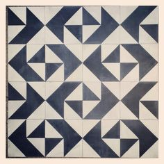 Pachinko pattern cement tile--Kismet Tile 2014