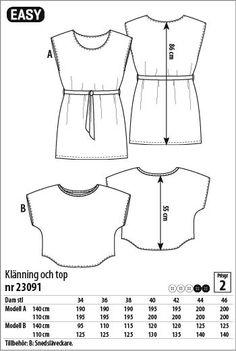 Klänning och top - 23091 - Stoff & Stil