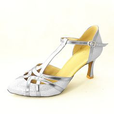 Customized Women's Leatherette And Sparking Glitter Modern Practice Ballroom Shoes – GBP £ 21.89