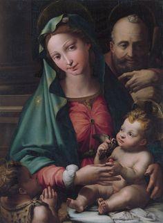 The Athenaeum - The Holy Family with the Infant Saint John the Baptist (Perino del Vaga - )