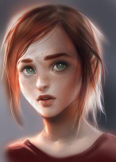 Ahhh! Ellie!!  Geez I wanna play this game so badly... buuut a) I'm a coward and b) I'd have to buy a PS3