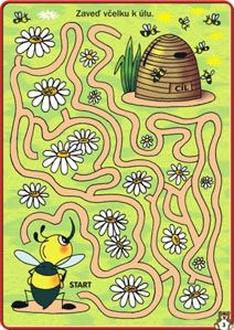 Včelka a úl- bludiště Dyslexia Activities, Fall Preschool Activities, Kids Math Worksheets, Maze Worksheet, Mazes For Kids, Animal Crafts For Kids, Bee Theme, Kids Education, Teaching Kids