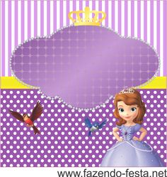kit festa princesa sophia caixa acrílico