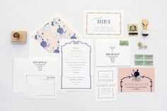 mae mae paperie stationery paper products custom collection wedding invitation suite