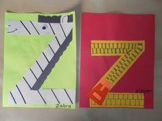 Z for zebra and zipper