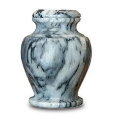 Gray Marble Cremation Keepsake Urn