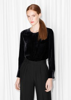 Other Stories image 2 of Graphic Devoré Blouse in Black