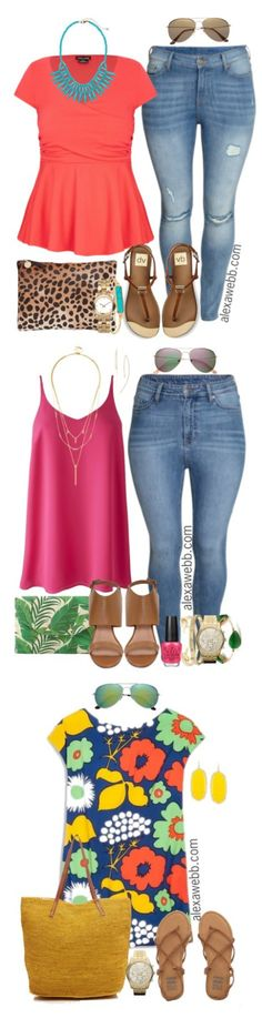 I like the turquoise/coral colors of the first set of this. Love the sandals too.