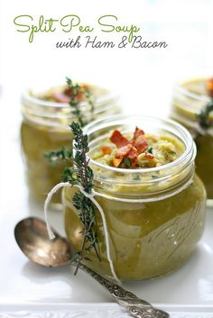 Split Pea Soup with Ham and Bacon