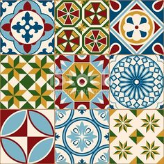 A seamless pattern created out of beautiful old fashioned mosaic porcelain tiles, inspired by Moroccan and Portuguese tile designs. This download includes a CMYK AI10 EPS vector file as well as a...