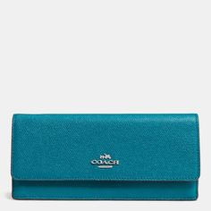 Coach :: SOFT WALLET IN EMBOSSED TEXTURED LEATHER