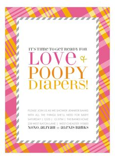 Get ready for all the joys and woes of parenting! Celebrate the beginning of this life-long journey amongst the people you love most at your baby shower. Don't forget to insert a little humor in the event. Order these funny and trendy baby shower invitations by Doc Milo Digital Designs on Polka Dot Design's invitation website! Guests are sure to chuckle and display this amusing invitation on their fridge after receiving it in the mail.