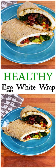 Easy Egg White Kale Wrap - just like Starbucks Egg White Spinach Wrap! High protein way to start the day!