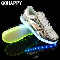 LED Shoes For Adults Women Casual Shoes LED Luminous Shoes Hot Fashion LED Light Shoes Men