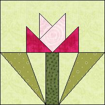 Block of the Day for November 5, 2015 - Fall Rose