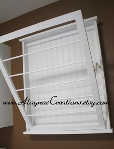 going to try to make one of these... Wall Mounted Laundry Drying Rack by AlaynasCreations on Etsy
