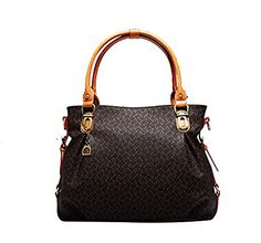 Grebago Women's Double Handle Bag Quality Leather Handbag/boston Bag ** You can find more details by visiting the image link. (This is an affiliate link) Boston Bag, Evening Bags, Leather Handbags, Sims, Handle, Brown, Clutches, Shoulder Bags, Wallets