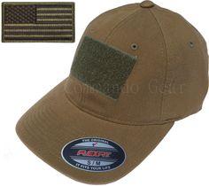 Flexfit Vintage Cotton Tactical Cap Hat w  Patch Area   American Flag Patch 7f908619f2c