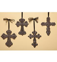 My Aunt Janet always had a wall of crosses in her house... I have always loved the idea. I think it's time to have one myself. (Check!)