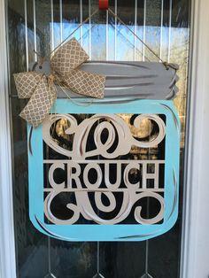 A personal favorite from my Etsy shop https://www.etsy.com/listing/512798455/monogram-door-hanger-letter-door-hanger