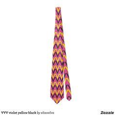VVV violet yellow black Corbatas Personalizadas