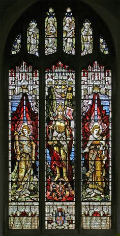 Stained Glass Window In St