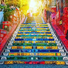 """Escadaria Selarón, or """"Selarón Steps"""", is a famous attraction in the heart of Rio de Janeiro. It is the work of Chilean artist Jorge Selarón, who…"""