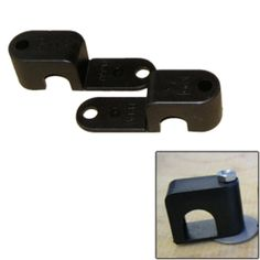 Weld Mount Single Poly Clamp f/1/4 x 20 Studs - 1/2 OD - Requires 1.5 Stud - Qty. 25