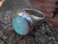 One of a Kind Opal and Tourmalines Sterling Silver  by Limorafaeli