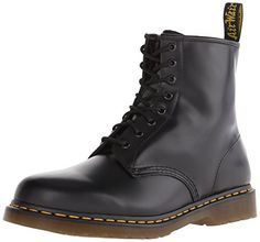 Dr. Martens 1460 Originals 8 Eye Lace Up Boot,Black Smooth Leather,6