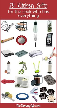 25+ Kitchen Gifts for the Cook Who Has Everything. These are uncommon kitchen gadgets that are tried and true. TheYummyLife.com