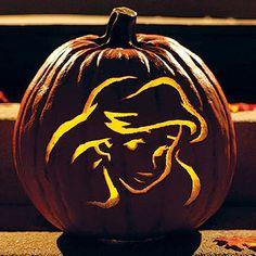 Ariel Pumpkin Template