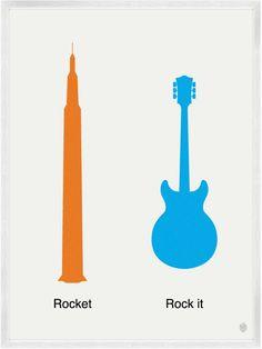Rocket/Rock It Print | My Little Underground