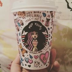 Wow, that is so pretty! I want to actually go to Starbucks just to make something like this now.