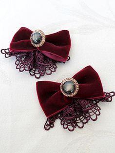 Ribbon Headbands, Ribbon Hair Bows, Diy Hair Bows, Cute Jewelry, Hair Jewelry, Ribbon Shoes, Bow Shoes, Victorian Crafts, Lolita Hair